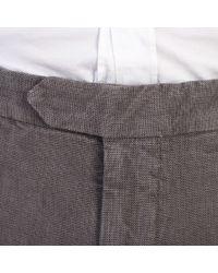 Dell'Oglio - Gray Dark Grey Cotton Trousers for Men - Lyst