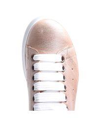 Alexander McQueen - Pearl Pink Leather Sneakers - Lyst