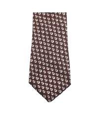 Dell'Oglio - Brown Patterned Silk Tie for Men - Lyst