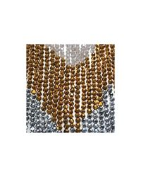 Night Market - Metallic Gold And Silver Fringes Necklace - Lyst
