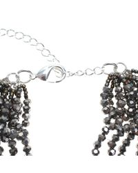 Night Market | Gray Silver Five Turns Necklace | Lyst