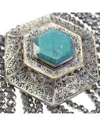 Night Market - Metallic Silver Beads Necklace - Lyst