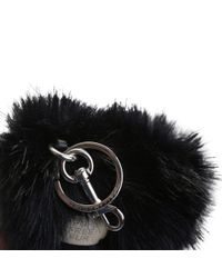 Stella McCartney - Black Eco-fur Heart Keyring - Lyst