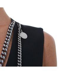 Stella McCartney | Black Paneled Cotton-blend and Velvet Dress | Lyst