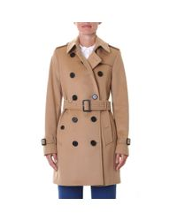 Burberry - Blue Camel Wool And Cashmere Kensington Coat - Lyst