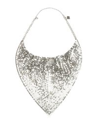 Paco Rabanne | Metallic Silver Metal Mesh Necklace | Lyst