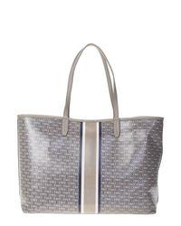 Tory Burch | Gray Grey Leather Gemini Link Bag | Lyst