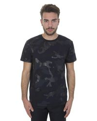 Valentino | Blue Cotton Camu Gommage T-shirt for Men | Lyst