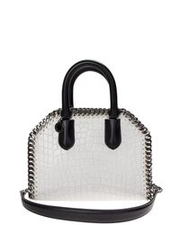 Stella McCartney | White Ivory Falabella Faux Leather Crocodile Effect Bag | Lyst