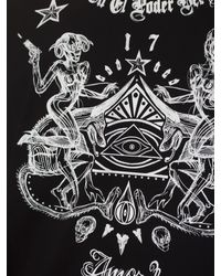 Givenchy - Printed Black Cotton T-shirt for Men - Lyst