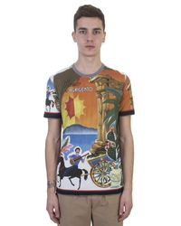 Dolce & Gabbana | Multicolor Mambo Ad Agrigento Printed Cotton T-shirt for Men | Lyst