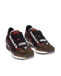 DSquared² - Leather And Chamois Multicolor 551 Sneakers for Men - Lyst
