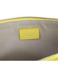 Givenchy - Yellow Leather Antigona Large Clutch - Lyst