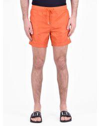 Moncler - Orange Nylon Swim Shorts for Men - Lyst