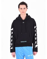 63bd3fabb0c2 Lyst - Off-White C O Virgil Abloh Printed Cotton Hoodie in Black for Men