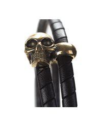 Alexander McQueen - Multicolor Leather Double Wrap Bracelet for Men - Lyst