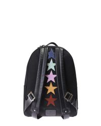 Valentino - Black Punk Poem Nylon Canvas Backpack for Men - Lyst