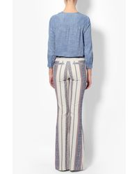 Derek Lam - Blue Tie Detail Chambray Shirt - Lyst