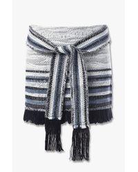 Derek Lam - Multicolor Fringe Tie Detail Skirt - Lyst