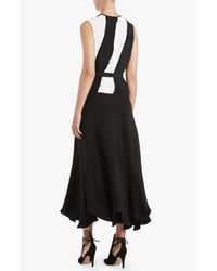 Derek Lam - Black Patchwork Belted Dress - Lyst