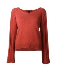 Derek Lam - Red V-neck Sweater - Lyst