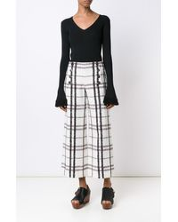 Derek Lam | Black Wide Leg Sailor Pant | Lyst