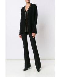 Derek Lam | Black L/s V-neck Sweater W/ Chain Detail | Lyst