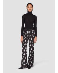 10 Crosby Derek Lam - Black Printed Pajama Trousers - Lyst