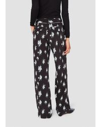 10 Crosby Derek Lam - Black Printed Pajama Trousers - Lyst