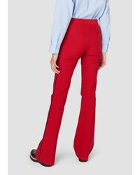 Derek Lam - Red Flare Trouser With Tuxedo Piping - Lyst