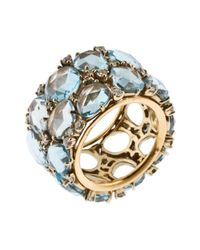Pomellato | Metallic Women's Lulu 18k Yellow Gold Blue Topaz Ring | Lyst