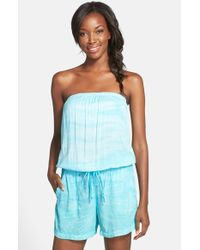 Hard Tail | Blue Strapless Shelf Bra Romper | Lyst