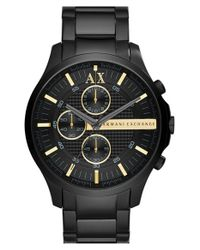 Armani Exchange - Black Chronograph Bracelet Watch for Men - Lyst