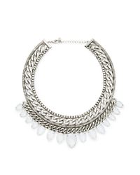 Forever 21 | Metallic Curb Chain Teardrop Necklace | Lyst