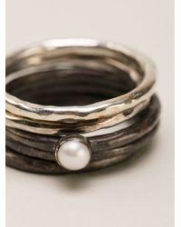 Henson | Metallic Ring Set | Lyst