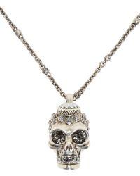 Alexander McQueen - Metallic Silver Victorian Skull Pendant - Lyst