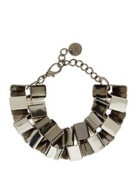 Jaeger | Metallic Angular Links Bracelet | Lyst
