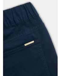 Violeta by Mango | Blue Color Massha Jeggings | Lyst