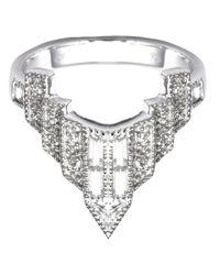 V Jewellery | Metallic Deco Chrysler Ring | Lyst