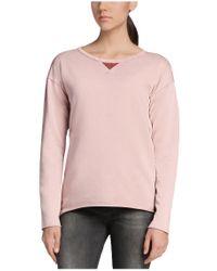 BOSS Orange - Purple Sweatshirt 'talomas' In A Cotton Blend - Lyst