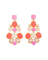 kate spade new york - Pink Kate Spade Chandelier Earrings - Lyst