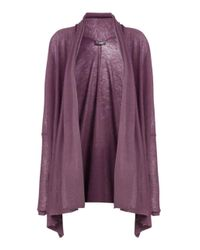 JOSEPH | Purple Cashair Long Open Cardigan | Lyst
