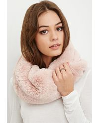 Forever 21 | Pink Faux Fur Snood | Lyst