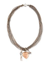 Irit Design | Metallic Antique Pink Gold Heart Locket Necklace With Diamonds | Lyst