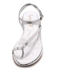 Splendid - Metallic Marbeya Ankle Strap Thong Sandals - Rose Gold - Lyst