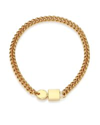 Marc By Marc Jacobs | Metallic Padlock & Key Chain Necklace | Lyst