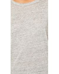 Chaser | Gray Raw Edge Linen Tee | Lyst