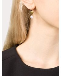 Marie-hélène De Taillac | White 22kt Gold Heart And Pearl Earrings | Lyst