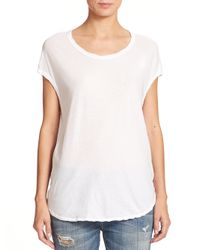 James Perse | White Circular Shell Top | Lyst