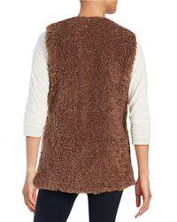 Lord & Taylor | Brown Faux Fur Vest | Lyst